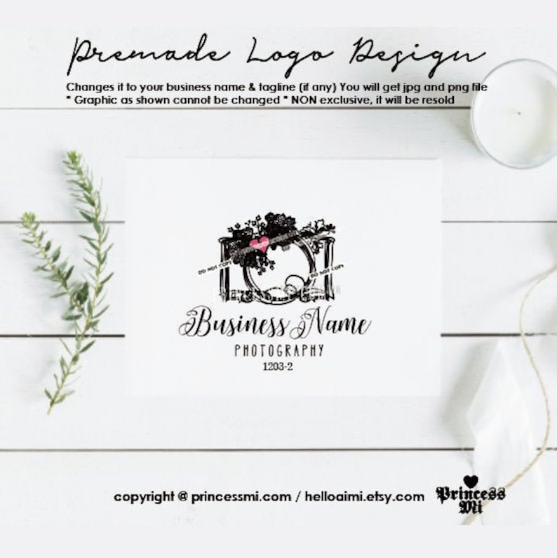 logo design photography camera for photographer watermark image 0