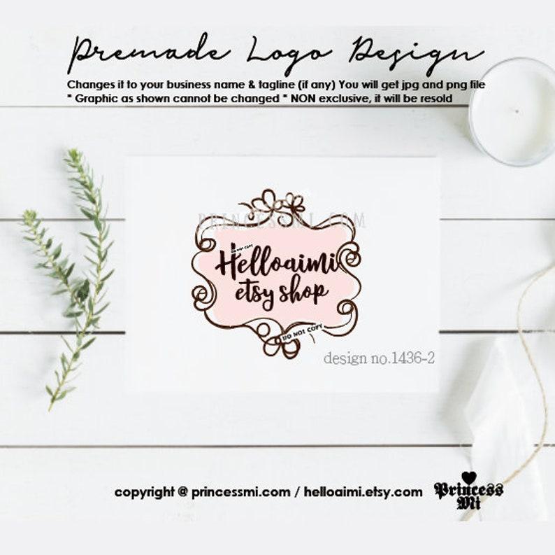 logo design boutique photography logo frame border  hand drawn image 0