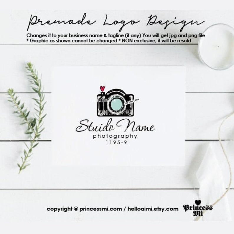 photography logo design camera photographer watermark image 0