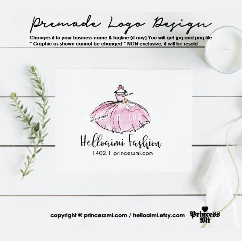 party dress logo design clothing  wedding dress girl fashion image 0