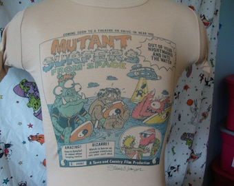 c53fe7c7a670 Vintage 80 s T C Surf Shop Mutant Surfers From Space Surfboard skateboard T  Shirt Size XS