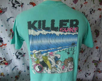 26c76f74bf Vintage 80 s T C Killer Surf Shop Surfboard skateboard T Shirt M