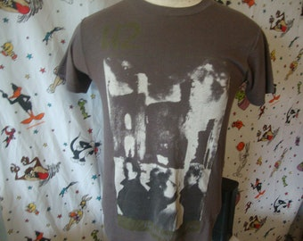 2e0e5b4dc Vintage 80's U2 The Unforgettable Fire 1985 Concert Tour Soft Paper Thin T  shirt Adult Size S