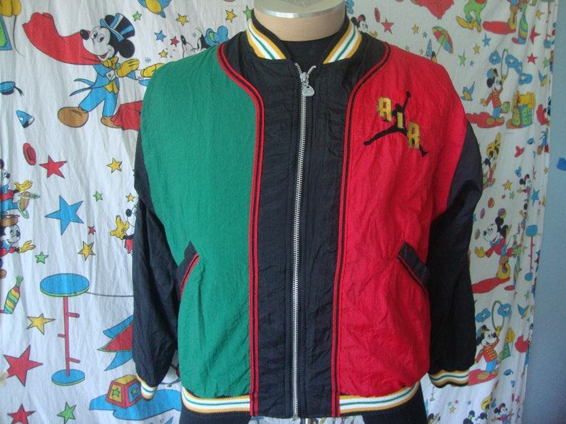 36ae940e9a4137 Vintage 90 s Nike Michael Air Jordan Rap Hip Hop Zip Up