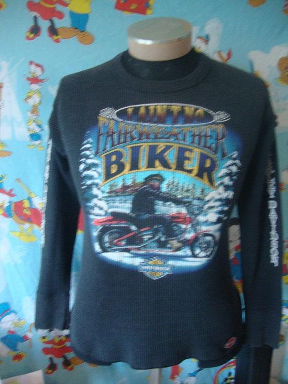 Vintage Harley Davidson Motorcycles Winter Black … - image 2