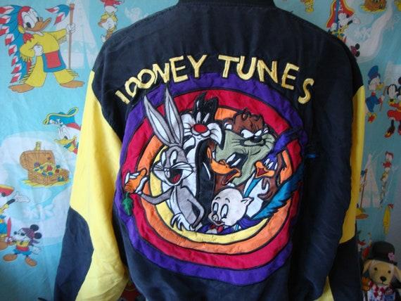 Vintage 90's Looney Tunes Cartoon Windbreaker Jack