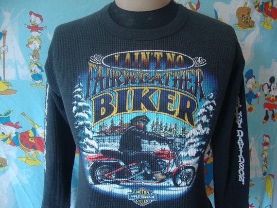 Vintage Harley Davidson Motorcycles Winter Black W