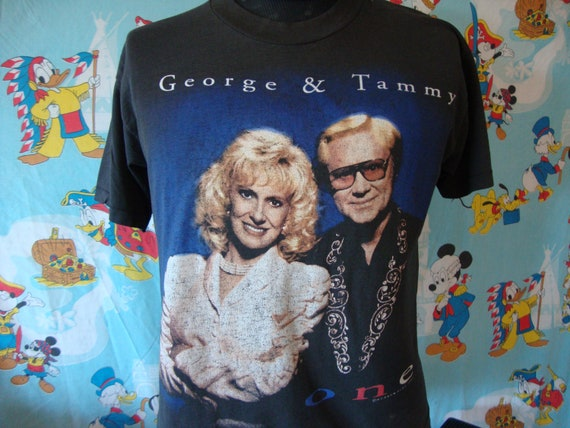 Vintage 90's Tammy Wynette and George Jones Band T