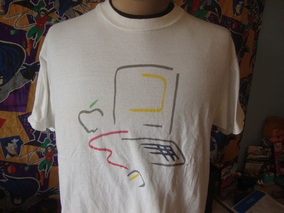 Vintage 90s Compaq Dell Apple Computer T Shirt Large Size