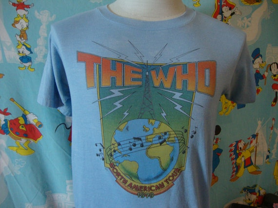 Vintage 70's THE WHO 1979 concert tour T Shirt M