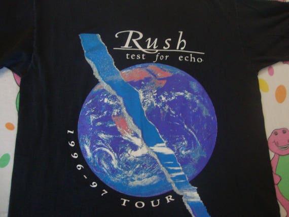89e7e8fd5 Vintage 90's RUSH test for echo 1996 1997 concert Tour | Etsy