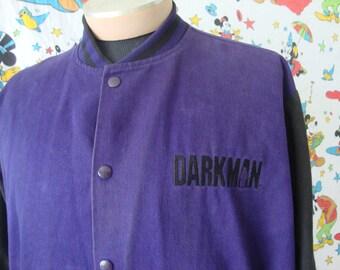 Vintage 90's  Darkman Movie Promo Letterman Jacket XL Cotton 1996 Liam Neeson USA MCA Universal Home Video
