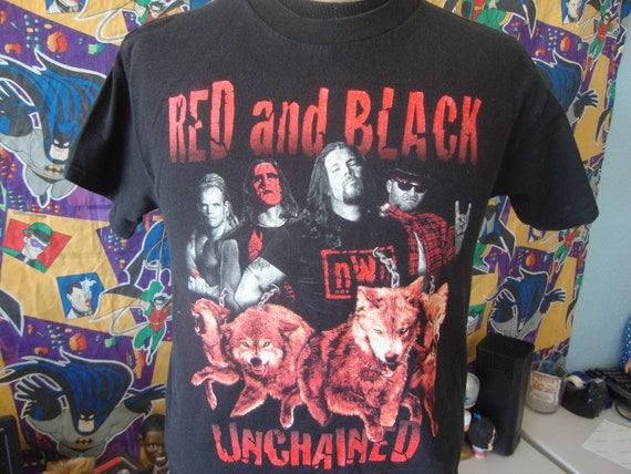 Vintage 90's NWO Red and Black Unchained WWF WWE W