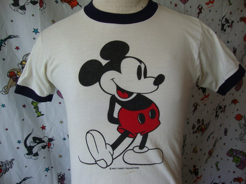 c83599f8 Vintage 70's Walt Disney World Mickey Mouse 100% Cotton | Etsy