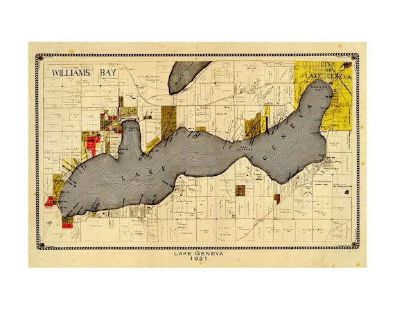 Vintage Map of New York City Reproduction Multiple Sizes11x17-24x36