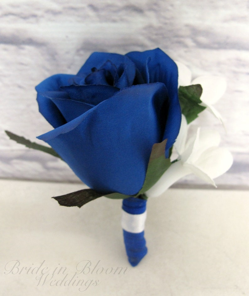 Blue rose boutonniere Rose Boutonniere blue for wedding or prom Boutonnieres for groom or Groomsmen