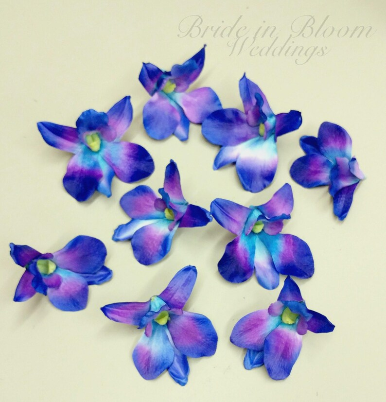 Blue Orchid Flowers Blue Orchids Wedding Decorations Diy Wedding Supplies Silk Orchids Blue Turquoise Orchid Blooms