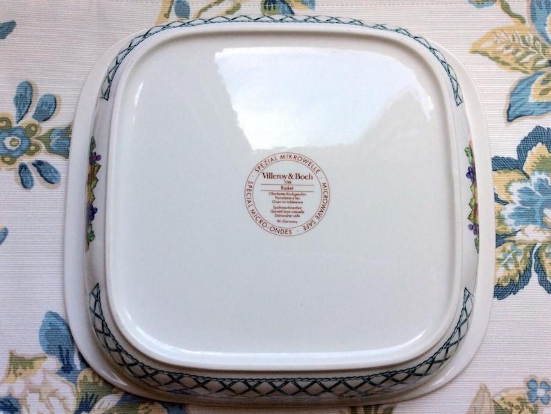 West Germany Villeroy /& Boch Fruit Basket 2 Quart Microwave Baker