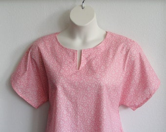 S-L Post Surgery Shirt (Shoulder, Breast Cancer, Mastectomy, Heart)/ Rehab - Physical Therapy / Breastfeeding - Style Gracie