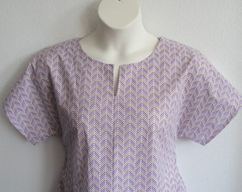 M- Post Surgery Shirt (Breast Cancer, Shoulder, Heart) / Rehab-Hospital-Physical Therapy Clothing / Breastfeeding - Style Gracie