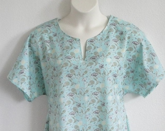 L- Post Surgery Gown (Shoulder - Mastectomy - Breast Cancer) / Adaptive Clothing / Hospice / Breastfeeding - Style Erin