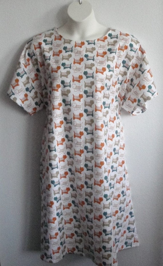 Style: Orgetta Breast Cancer XS-3X Post Surgery FLANNEL Gown Shoulder Mastectomy  Hospital  Adaptive Clothing  Breastfeeding