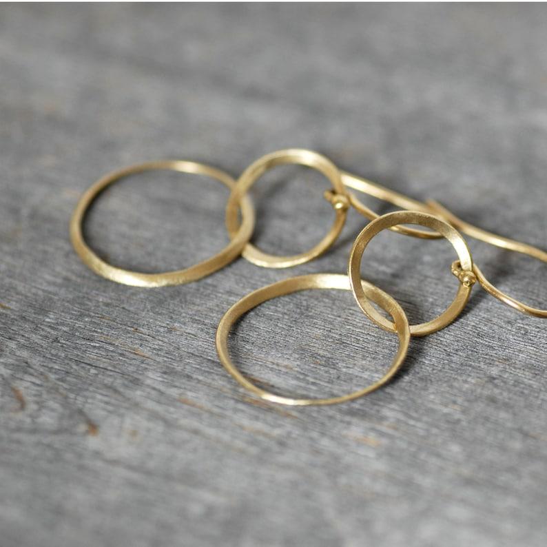 18 K two tone double ribbon dangle earring