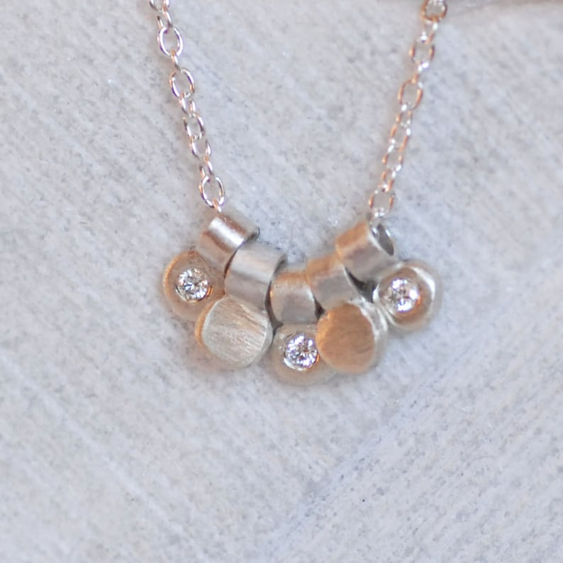 Diamond Dewdrop Necklace Sterling Silver and Diamond Necklace