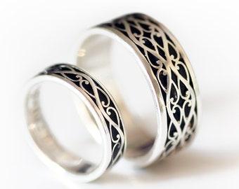 Silver wedding ring birthday gift Gift ring Wedding rings handmade rings Marriage wedding ring Wedding Anniversary