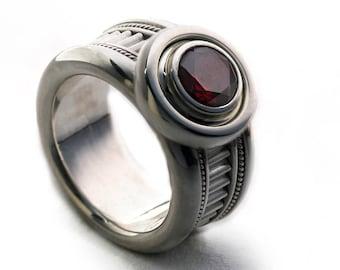 Red Garnet ring men & women-Personalized ring,custom men ring, Silver Engagement Ring, Garnet Jewelry,Fine Jewelry,Birthstone Ring, Red ring