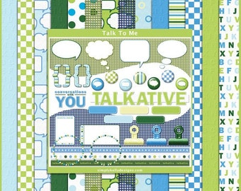 Talk To Me - Digital Scrapbooking Kit - Instant Download