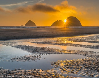 Oceanside Beach Recreation Area Print Maxwell Point Oregon Coast Sunset Highway HWY 101 Fine Art Nature Photography Canvas or Metal Art