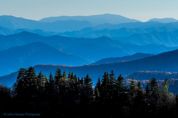 North Carolina Blue Ridge Mountains Nc Fine Art Canvas Print Blue Ridge Parkway Appalachian Trail Mountain Photography Art Rustic Decor