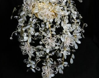 Crystal Bouquet - Champagne & Gold