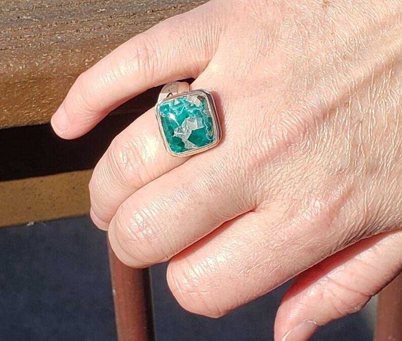 Dioptase Ring