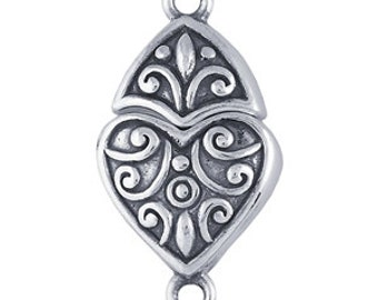 Sterling Silver Fancy Heart Magnetic Clasp