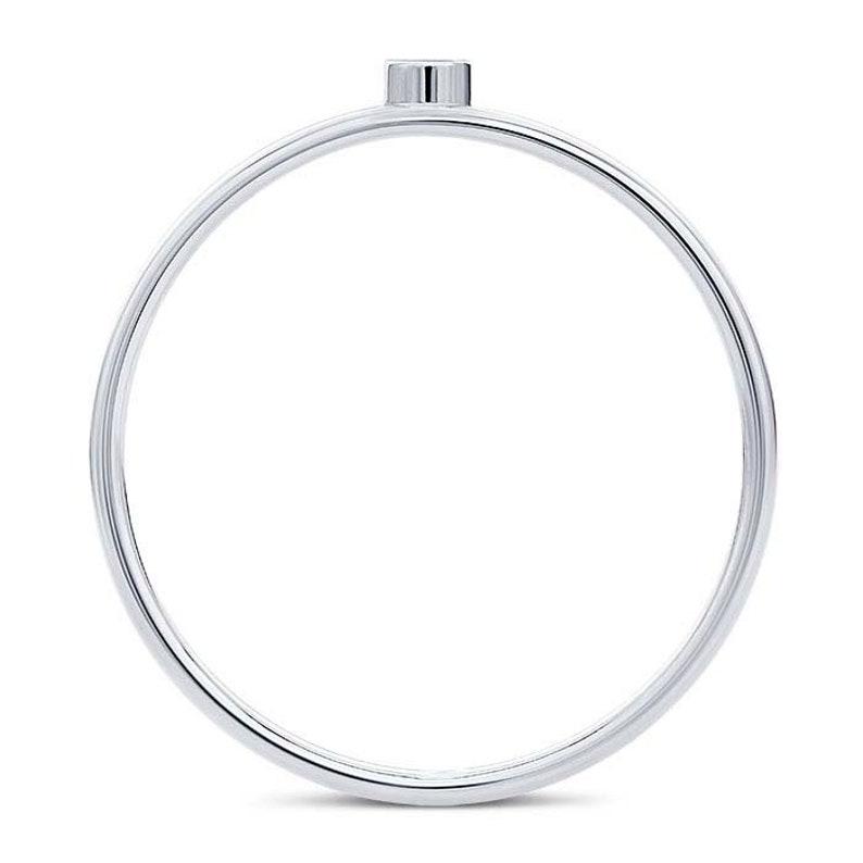 Ring Blank, 14K White Gold 2mm Round Bezel Ring Mountings
