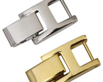 Watch Band Bracelet Extenders with Fold Over Link Clasp