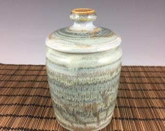 Handmade small urn, pet urn, keepsake urn, blue, Ready to ship