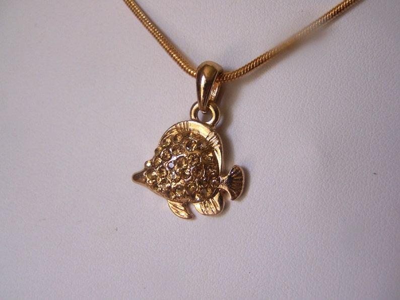 Angel Fish Pendant Necklace