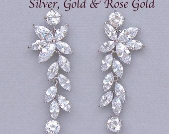 Bridal Earrings, Wedding Earrings, Chandelier Earrings, Crystal Bridal Earrings,  Maxime
