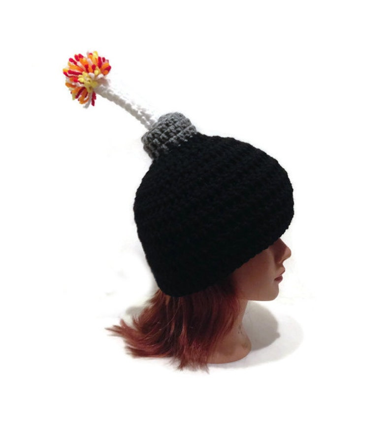 Bomb Hat Novelty Beanie Lit Fuse Bomb Bomb Cosplay Hat  52ec173badd