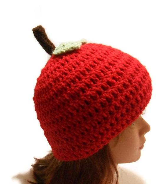 Red Apple Hat Fruit Hat Kawaii Hat Novelty Hat Kids Fruit  065e6030f42