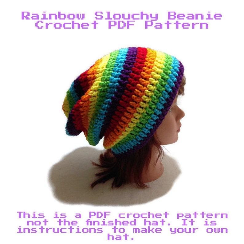 b4945b2bfc4 Rainbow Hat Crochet Pattern Crochet Pattern for Beginners