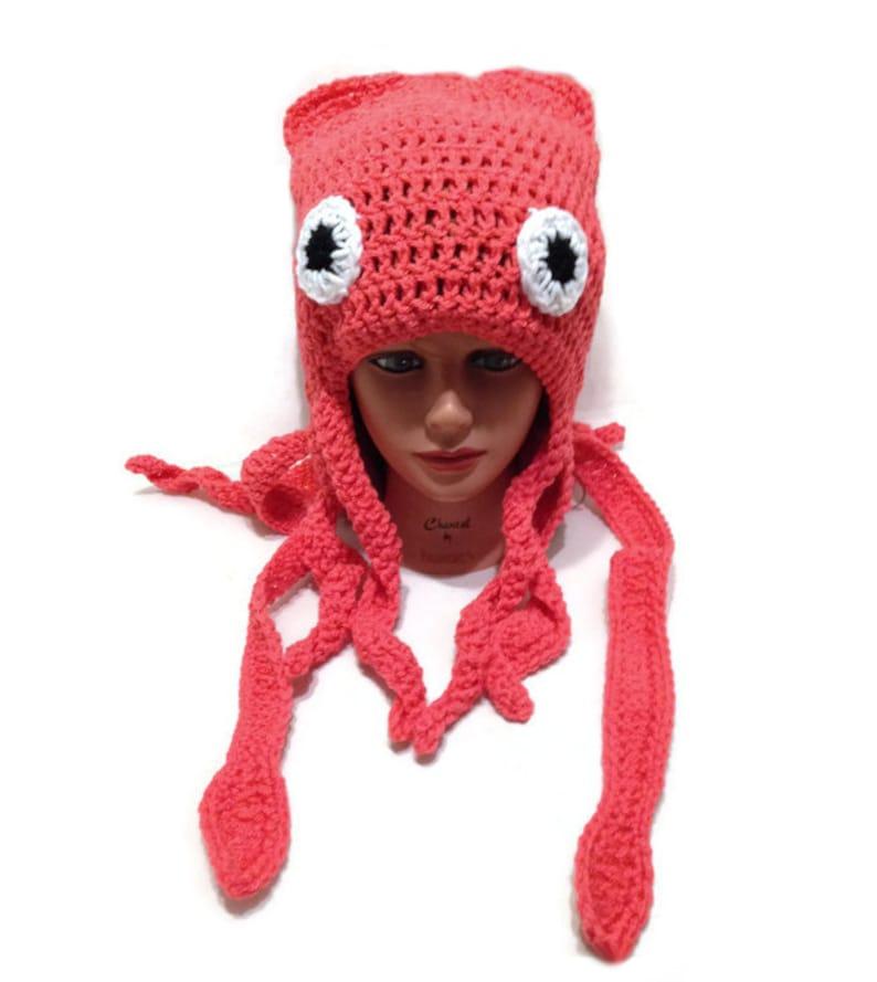 Squid Hat Squid Costume Squid Beanie Slouchy Squid Hat  eb0c2c7272c