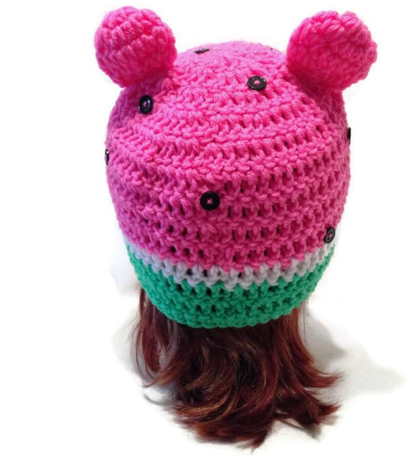 90acf210232 Watermelon Bear Hat Food Hat Foodie Gift Bear Cosplay Hat