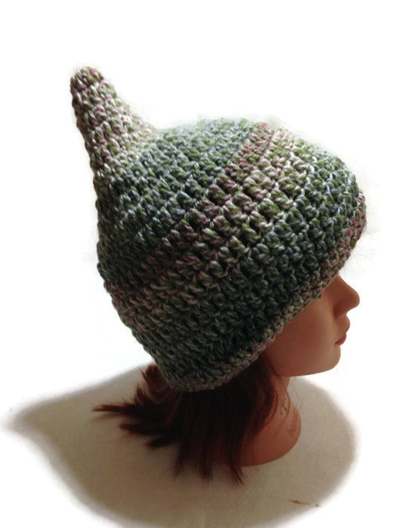 7631856171e Holiday Gift Gnome Hat Pixie Beanie Novelty Hat Ombre Green