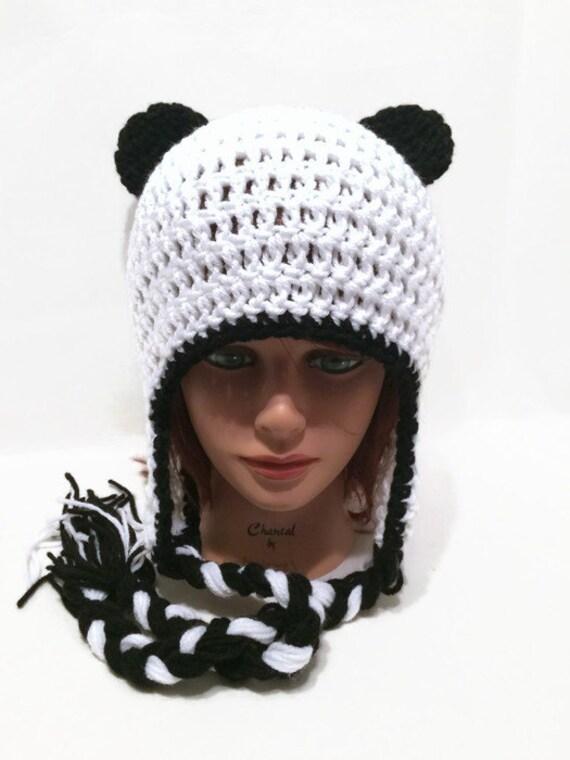 Panda Hat Panda Bear Gesichtsmaske und Ear Flap Winter Hut | Etsy
