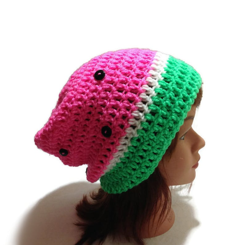 Watermelon Hat Watermelon Slouchy Hat Watermelon Beanie  3a1ca5c697b
