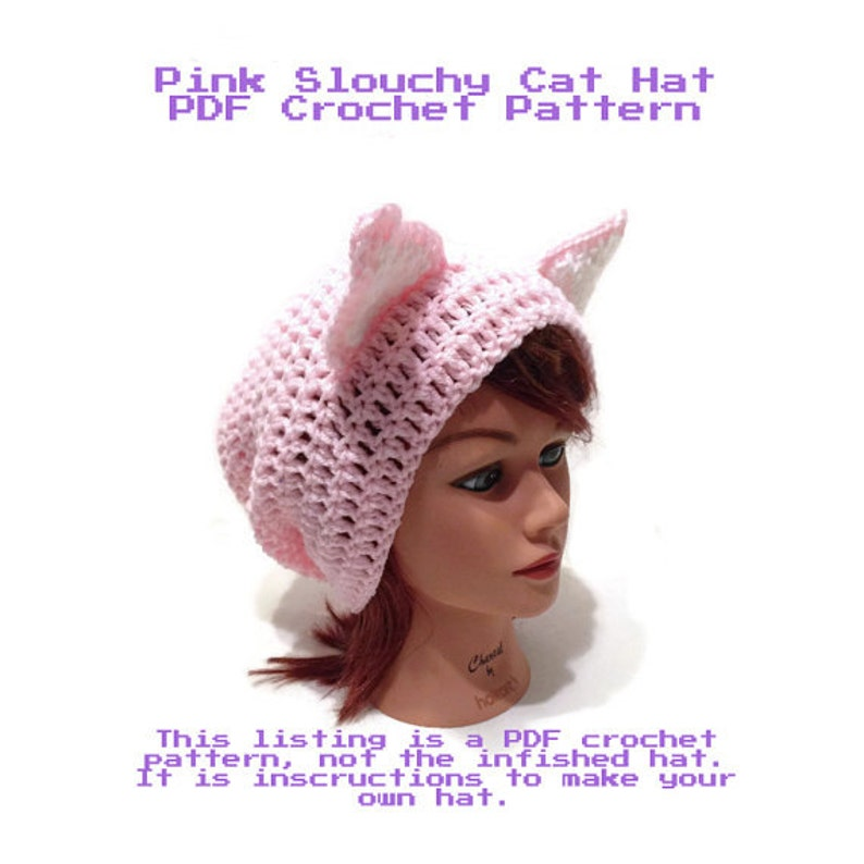 ab6701bc547 Crochet Cat Pattern DIY Halloween Costumes Instant Download